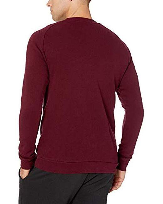 Men's Red Trefoil Warm up Crew Sweatshirt
