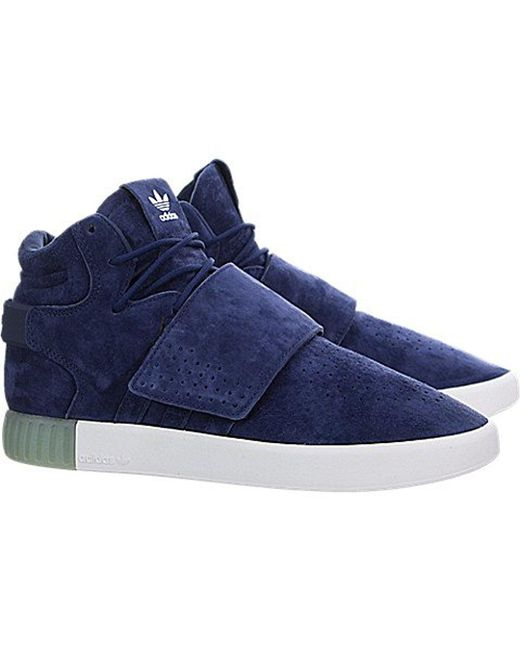 Adidas Originals - Blue Tubular Invader Strap Shoes for Men -  new cheap  Lyst - Adidas Tubular Invader Strap Sneakers in Black ... 45f8442eb