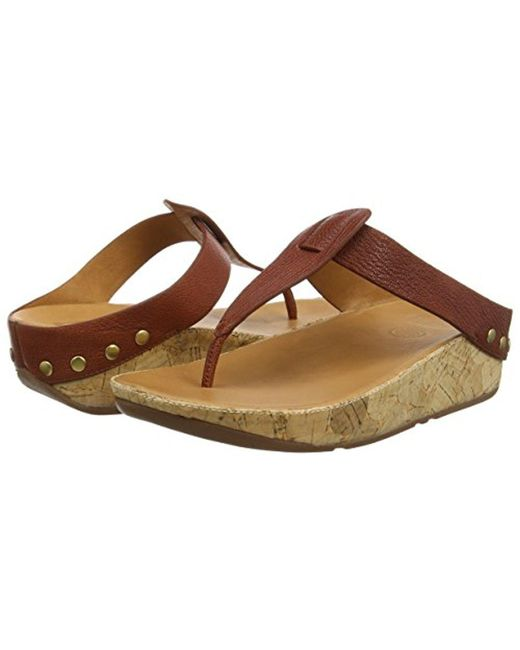 a7c5ec850 Lyst - Fitflop Ibiza Cork Flip Flop in Brown - Save 38%
