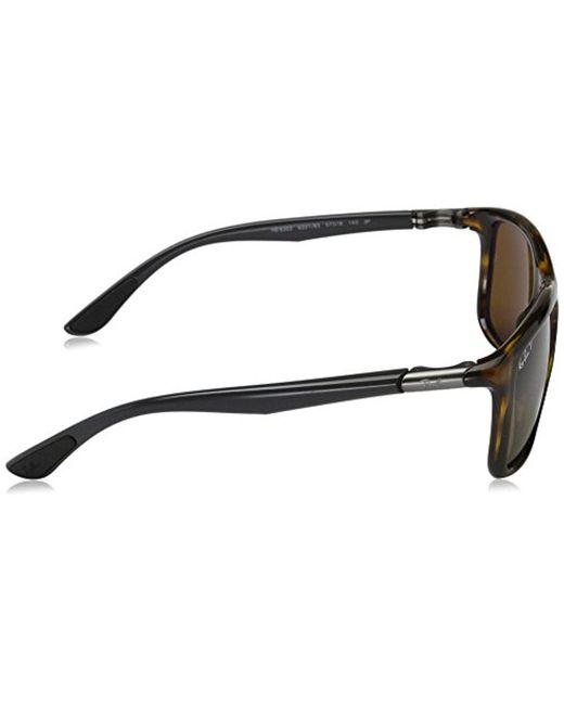 ... Ray-Ban - Injected Man Sunglass - Havana Frame Polar Brown Lenses 57mm  Polarized for ... 95226fb871a7