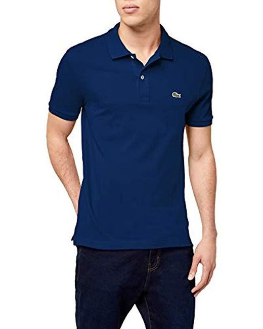 Lacoste - Blue , Slim Fit Polo for Men - Lyst