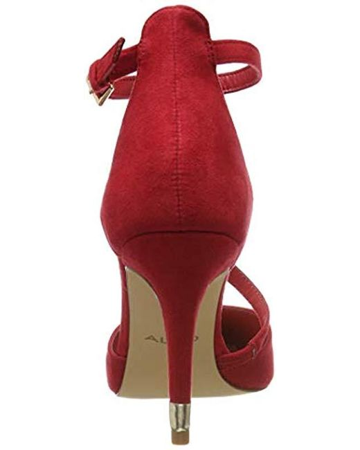 1a3da9ad19 ... ALDO - Red Vetrano Closed Toe Heels - Lyst ...