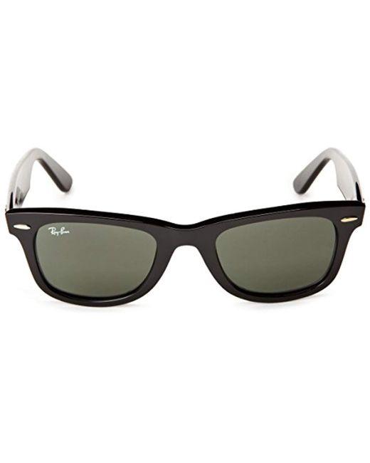 0e2074967e42 ... Ray-Ban - Black Unisex Rb2140 Original Wayfarer Non-polarized  Sunglasses 54mm - Lyst ...