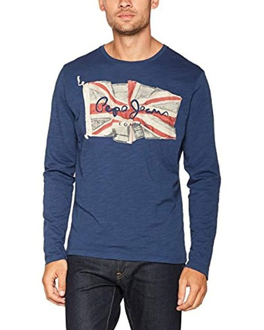 Pepe Jeans - Blue 's Long Sleeve Top for Men - Lyst