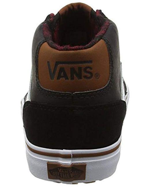 5c30123786 Vans  s Chapman Mid Mte Hi-top Sneakers in Black for Men - Lyst