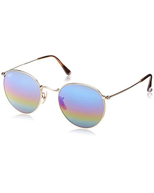 Ray-Ban - Multicolor Ray Ban Orb3447 Round Metal Sunglasses, 47mm - Lyst