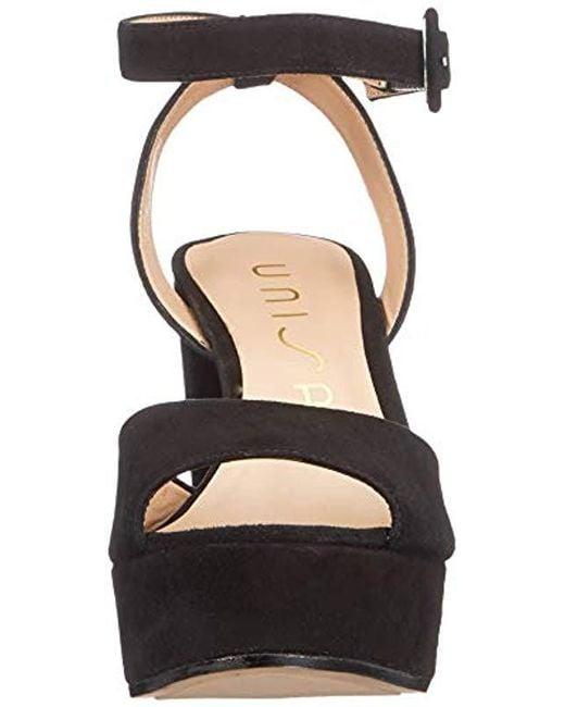 3f9bb111ac ... Unisa - Black Venta_19_ks Platform Sandals - Lyst ...