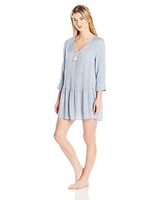 Lucky Brand - Blue Sleep Dress - Lyst