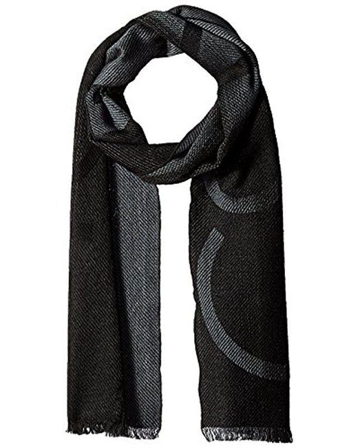 CALVIN KLEIN 205W39NYC - Multicolor Ombre Oversized Logo Scarf for Men - Lyst