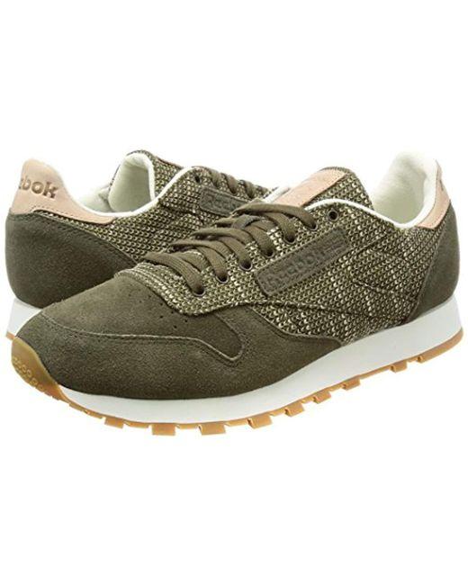 87c1d2d5e08 ... Reebok - Green Cl Leather Ebk Fitness Shoes Beige for Men - Lyst ...