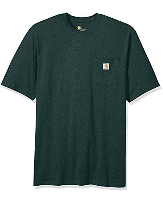 Carhartt - Green Big & Tall Workwear Pocket S/S Tee for Men - Lyst