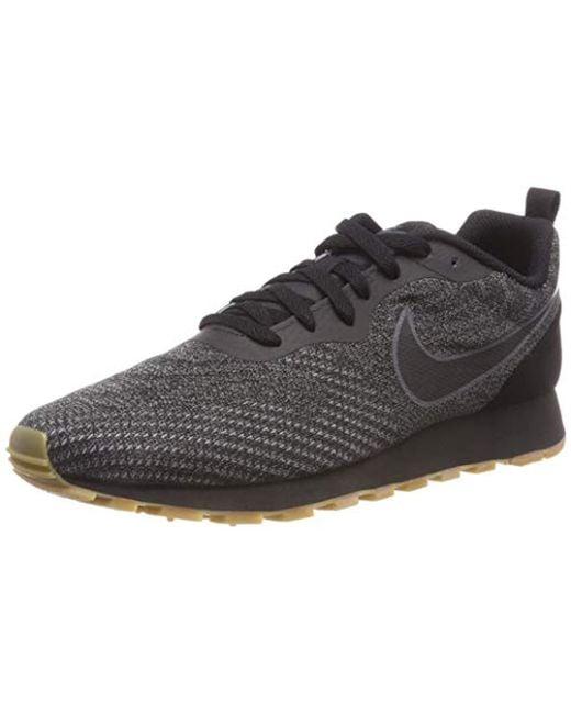 4729804209 Nike Md Runner 2 Eng Mesh Fitness Shoes in Black for Men - Save 27 ...