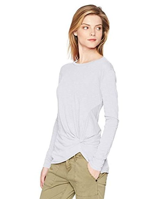 Stateside - Metallic Supima Slub Long Sleeve Twist Tee - Lyst