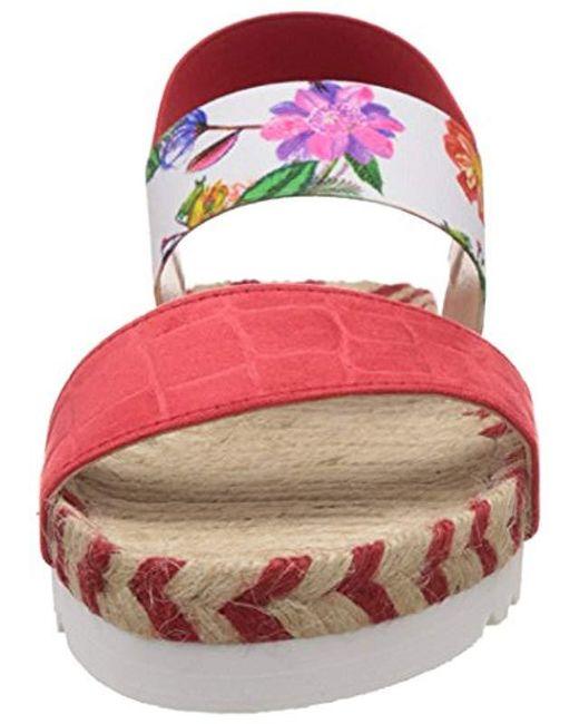 598224de4213 ... Desigual - Red Formentera 6 Heels Sandals - Lyst ...