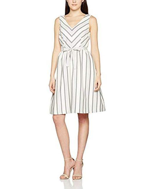 Great Plains - White 's Sofia Stripe Dress - Lyst