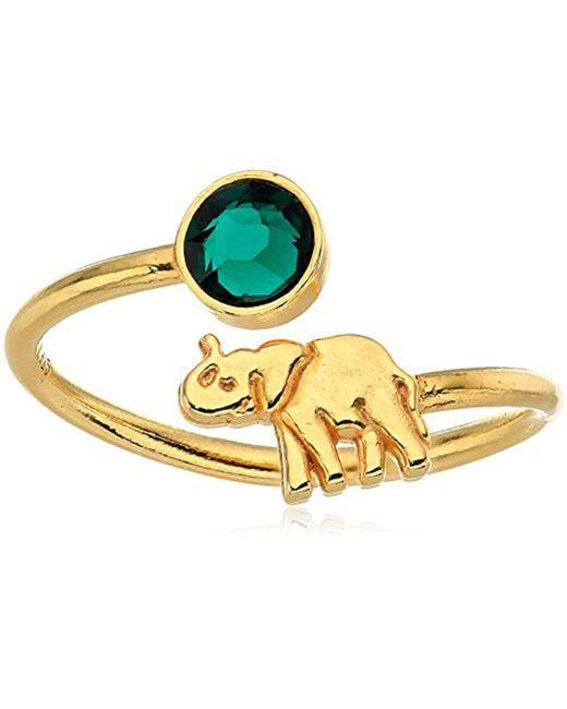 ALEX AND ANI - Metallic S Elephant Ring Wrap - Precious Metal - Lyst