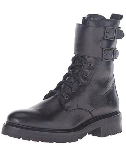 Frye - Black Julie Shield Combat Boot for Men - Lyst