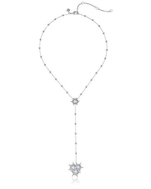 Rebecca Minkoff - Metallic Rock Beaded Y-shaped Necklace - Lyst