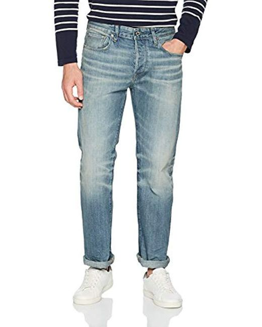 6131318a6f3dbd G-Star RAW - Blue 3301 Loose Fit Jeans for Men - Lyst ...