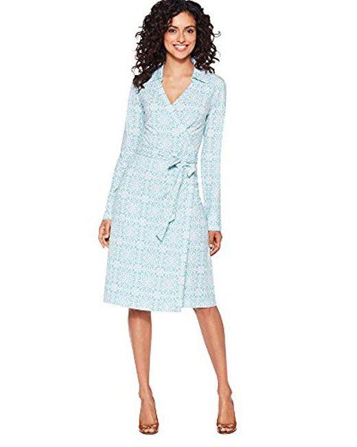 2f698ea6ba1a Lyst - Pendleton Wrap Knit Dress in Green