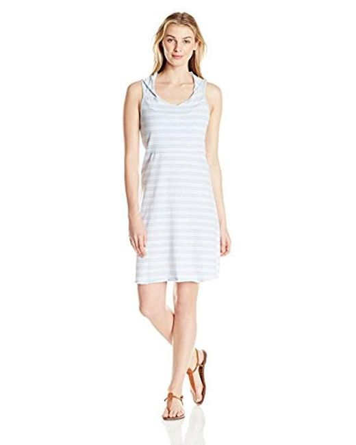 Marc New York - White Hooded Thick Thin Stripe Dress W/shelf Bra - Lyst