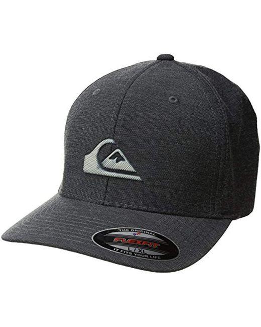 huge selection of ed0b8 5e7cc Quiksilver - Black Texturizer Hat for Men - Lyst ...
