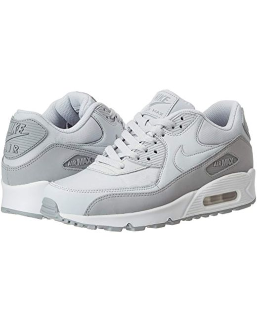 huge selection of 71c28 7b776 ... Nike - Gray Air Max 90 Essential Trainers for Men - Lyst ...