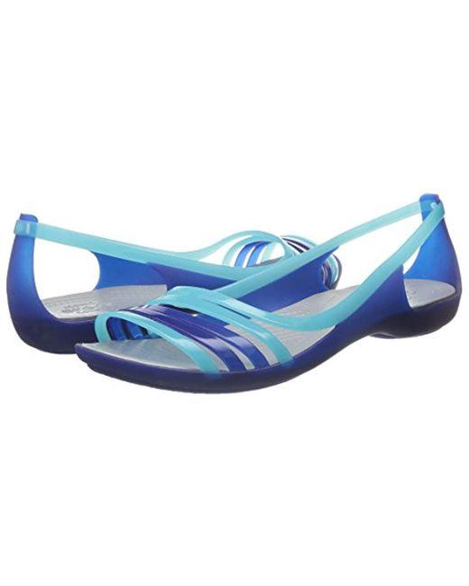 2c9b6d4101f27 ... Crocs™ - Blue Isabella Huarache Flat Jelly Sandal - Lyst ...