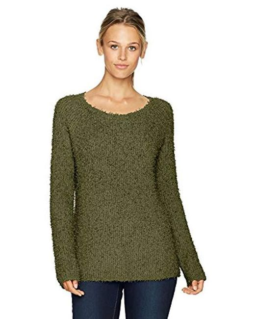 BB Dakota - Green Shyla Eyelash Fuzzy Pullover Sweater - Lyst
