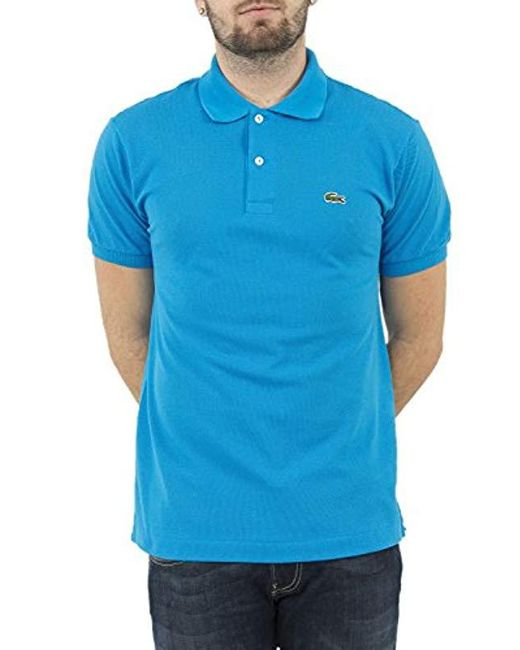 Lacoste - Slim Fit Pique Polo In Blue for Men - Lyst