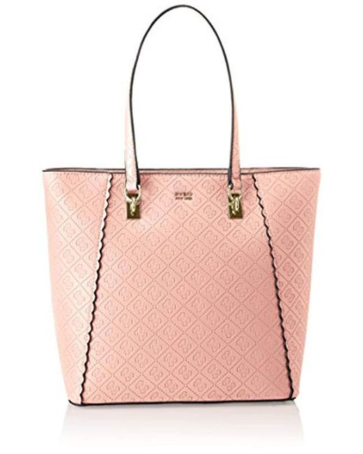 Guess - Pink Rayna Tote - Lyst ... c5b6fd56281c1