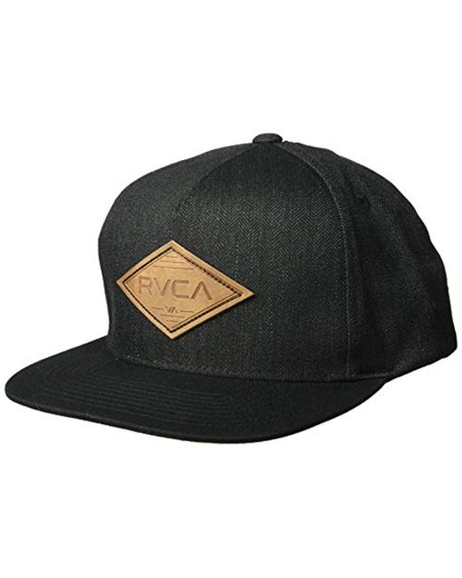 RVCA - Black Woods Snapback Hat for Men - Lyst ... 4fcc466e82fb