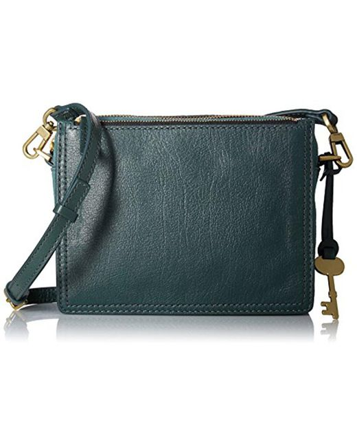 Fossil - Green Campbell Crossbody Bag - Lyst