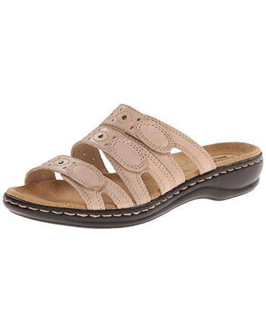 Clarks - Natural Leisa Cacti Slide Sandal - Lyst