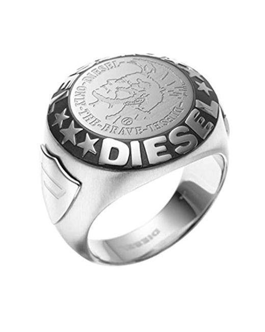 DIESEL - Metallic Herren Ring DX0182040 for Men - Lyst
