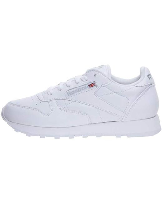 a353af331542d ... Reebok - White Classic Leather Trail Running Shoes - Lyst ...