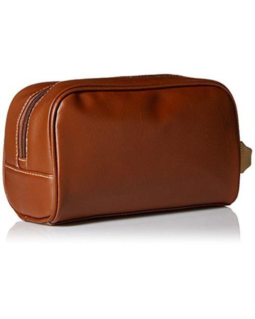 ... Kenneth Cole - Brown Reaction Top Zip Single Compartment Travel Kit for  Men - Lyst ... d3a2de5844a5e