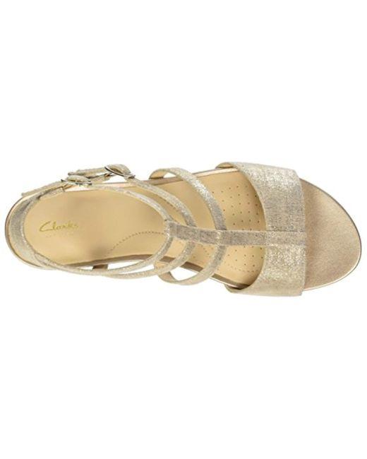 99d4ad5fab2 ... Clarks - Metallic  s Parram Spice Gladiator Sandals - Lyst
