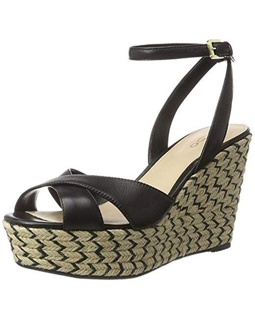 da102972cc1f ALDO - Black Annalynn Ankle Strap Sandals - Lyst ...