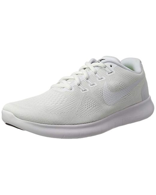 3f57c1ed8c52 Nike Free Rn 2017 Running Shoes in White for Men - Save 63% - Lyst