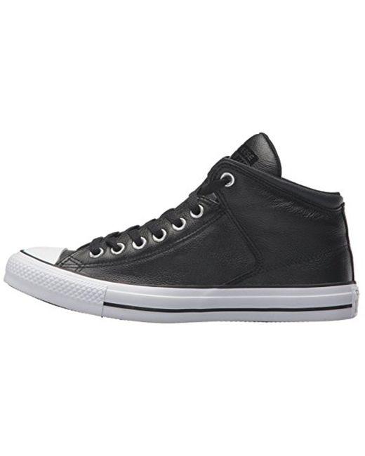 b1e217275db ... Converse - Black Street Leather High Top Sneaker for Men - Lyst ...