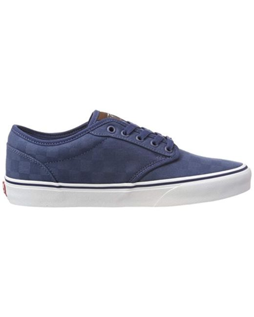 475ef0f84a37 ... Vans - Blue Atwood Checkerboard Low-top Sneakers for Men - Lyst ...
