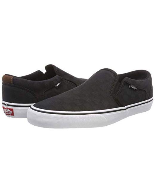 0543f006863 ... Vans - Black Asher Deluxe Slip On Trainers for Men - Lyst ...