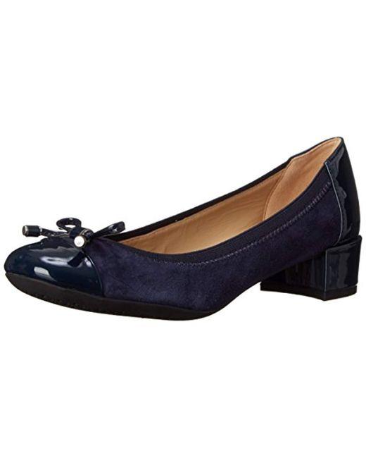 5d13e79162b1 Geox  s D Carey A Closed-toe Pumps in Blue - Save 31% - Lyst