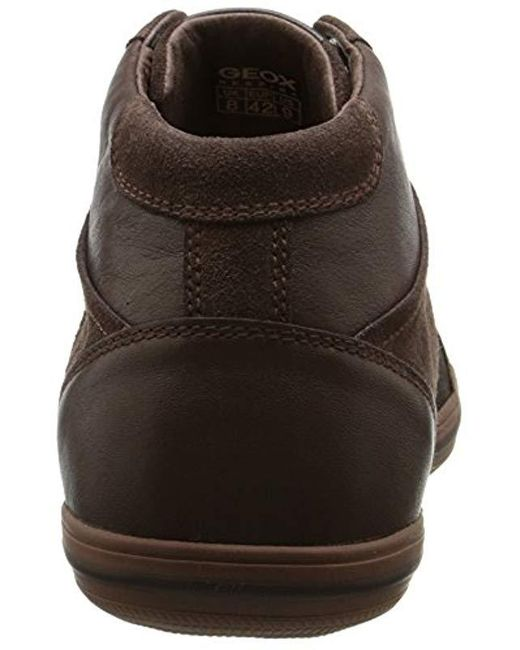 Geox Uomo Ricky C Hi top Trainers in Brown for Men Lyst
