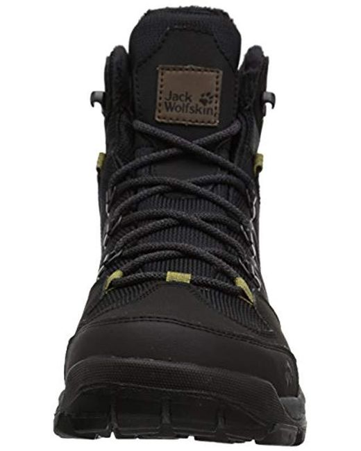 0ef16eeb13d ... Jack Wolfskin - Black Cold Terrain Texapore Mid M High Rise Hiking  Shoes for Men ...
