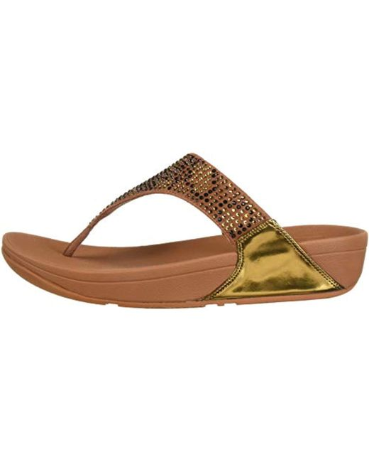 f7324be72311 ... Fitflop - Brown Lulu Leopard-crystal Sandal