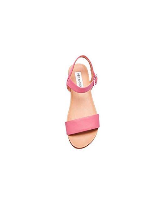 298f45a1d49 Lyst - Steve Madden Aida Sandal in Pink - Save 54%