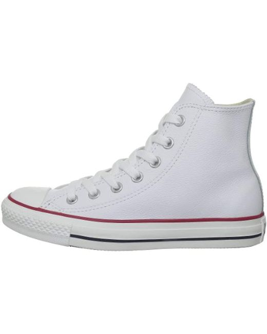 177423adad06 ... Converse - White Unisex Adults  All Star Hi Leather Outdoor Sports Shoes  ...