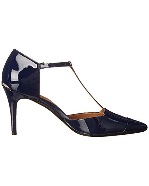 ... Calvin Klein - Blue Ginae Dress Pump - Lyst ...